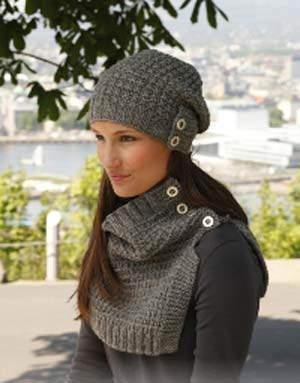 image, آموزش تصویری بافتن کلاه و شال زمستانی