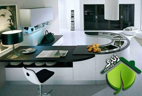 image راهنمای تصویری چیدمان شیک و مناسب آشپزخانه کوچک