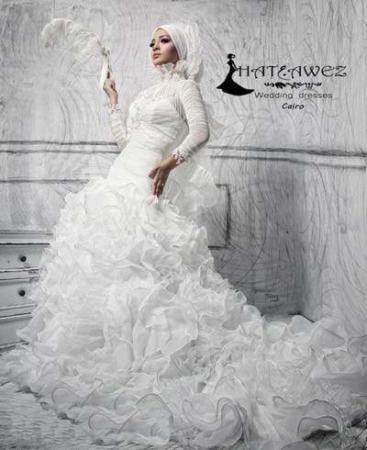 image مدل  لباس عروس اسلامی برای خانم ها