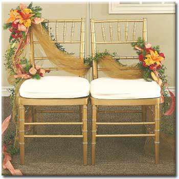 image مدل های جدید تزیین صندلی عروس و داماد در جشن عروسی