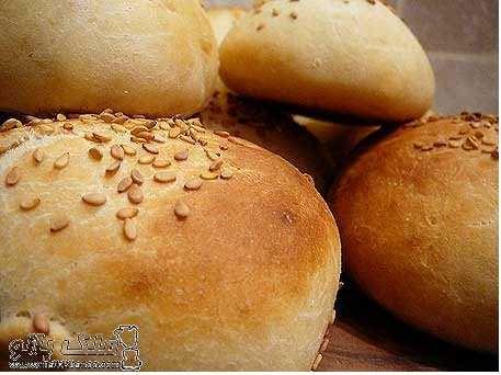 image آموزش تصویری پخت نان ساندویچ در خانه