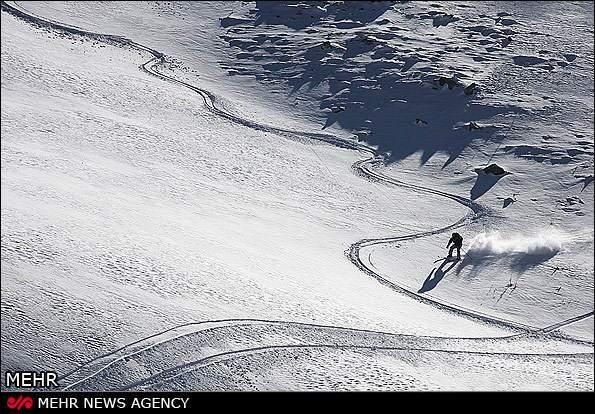image عکسهای دیدنی پیست اسکی تاریک دره شهر همدان