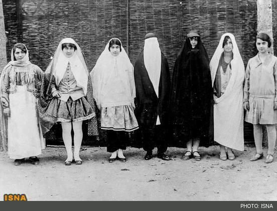 image تصاویر آغاز کشف حجاب در سال ۱۴
