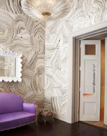 image آموزش تصویری تزیین دیوارهای ساده با کاغذ دیواری