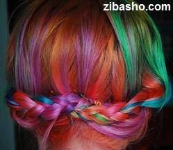 image آموزش عکس به عکس رنگ و هایلایت فانتزی و هفت رنگ موها