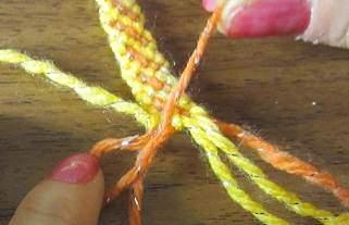 image, آموزش عکس به عکس بافت دستبند دوستی طرح اریب رنگی