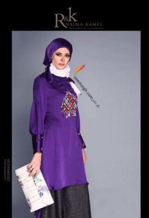 image مدل های جدید و زیبای مانتوهای زنانه اسلامی R&K