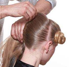 image, آموزش عکس به عکس مدل موی شینیون جدید حلزونی