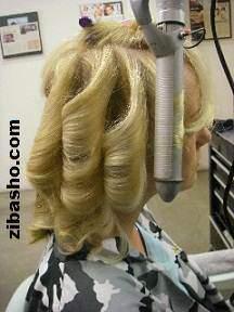 image آموزش عکس به عکس حالت دادن به موهای زنانه شیک و حرفه ای