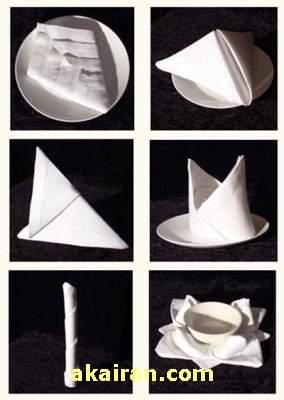 image جدیدترین مدل های تزیین دستمال سفره برای میزهای مهمانی