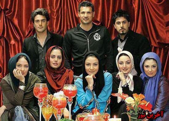 image عکس قدیمی یادگاری تمام بازیگران ایرانی سر سفره هفت سین