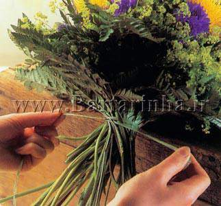 image آموزش عکس به عکس ساخت دسته گل عروس