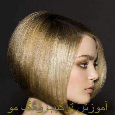 image آموزش مرحله ای ترکیب رنگ موی زنانه