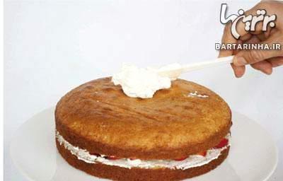 image بهترین عصرانه بچگانه فوم کیک توت فرنگی