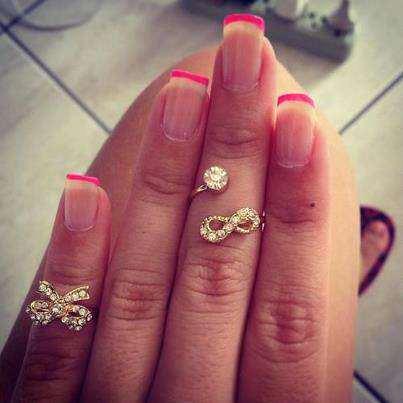 image مدل جدید طراحی ناخن و انگشتر پاپیونی زنانه