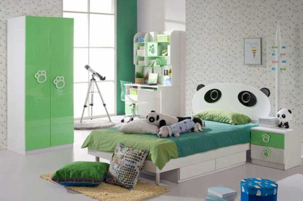 image دکوراسیون اتاق خواب پسر بچه مدل خرس پاندا
