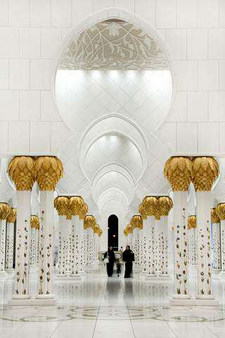 image, نمایی زیبا از مسجد شیخ زاید در ابوظبی