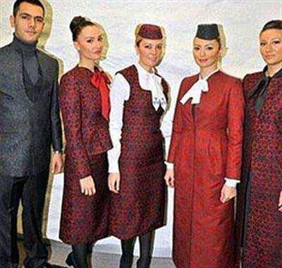 image طراحی جنجالی لباس مهمانداران زن ترکیه ای
