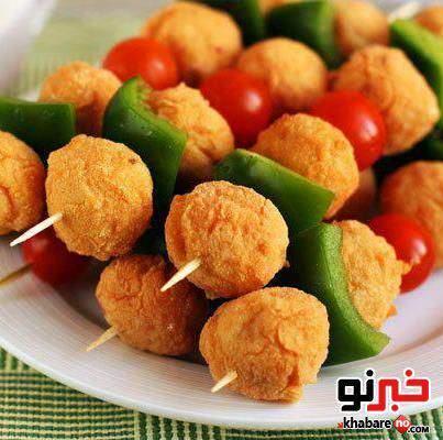 image تهیه عصرانه توپک مرغ برای بچه ها