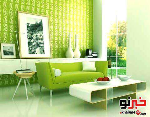 image عکس های  مدل جدید دکوراسیون رنگ سال سبز زمزد