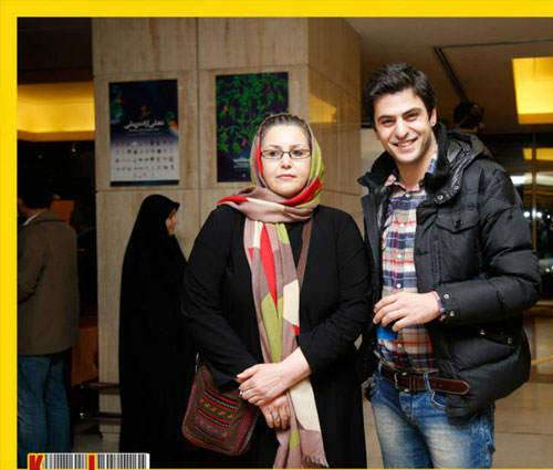 image علی ضیا در جشنواره فجر ۹۱ همراه با مادرش