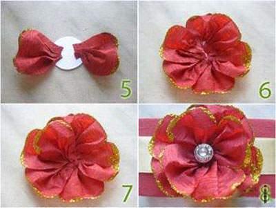 image آموزش عکس به عکس ساخت گل های زیبا با کاغذ کشی