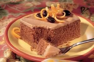 image طرز پخت کیک کاپوچینو با طعم پرتغال