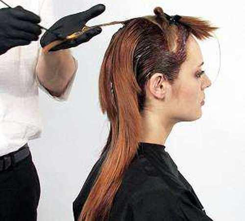 image آموزش تصویری کوتاه کردن و رنگ کردن موی زنانه در منزل