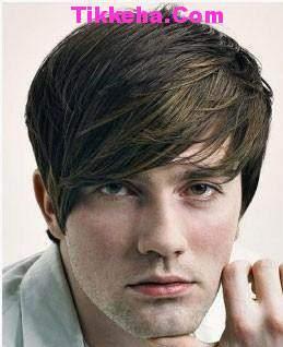 image مدل موی مردانه و پسرانه برای موهای چتری و پیشانی بلند