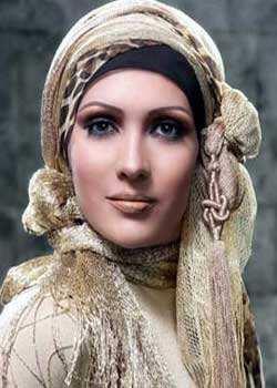 image آموزش تصویری بستن زیبا و اسلامی شال و روسری