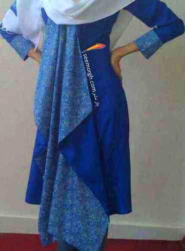 الگوی مانتو پیلی پشت مدل مانتو سنتی دست ساز ایرانی 92