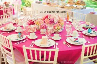 image آموزش تصویری چیدن میز غذای عروسی جدید