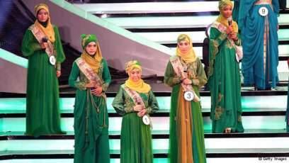 image گزارش تصویری از مراسم بانوی زیبای با حجاب جهان