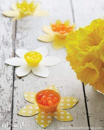 image ایده جالب درست کردن ظروف سفره هفت سین با کاغذرنگی