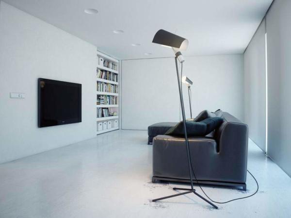 image نقشه کامل تصویری دکوراسیون مدرن خانه سفید فضایی