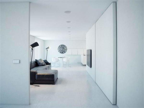 image, نقشه کامل تصویری دکوراسیون مدرن خانه سفید فضایی