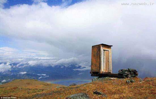 image گزارش تصویری از جای عجیب ترین توالت دنیا