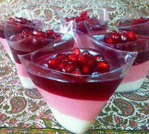 عکس, آموزش تصویری درست کردن دسر انار در شب یلدا برای مهمانی