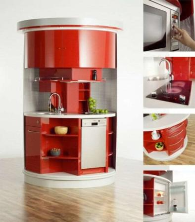 image ایده مدرن طراحی آشپزخانه کمجا و دایره ای