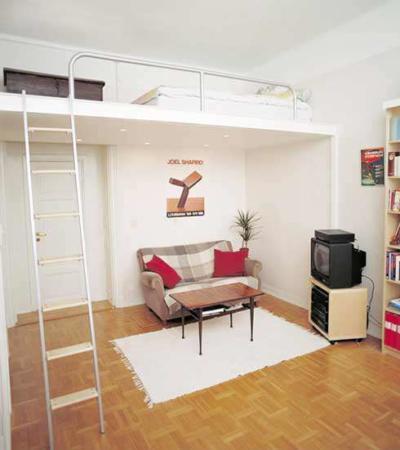 image طراحی و دکور اتاق کوچک برای خواب و کار