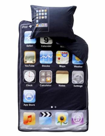 image طرح جدید رختخواب یک نفره مدل گوشی آیفون