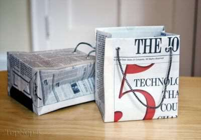 image, آموزش تصویری ساخت  پاکت خرید با روزنامه