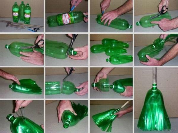 image, آموزش تصویری ساخت جاروی پلاستیکی با بطری