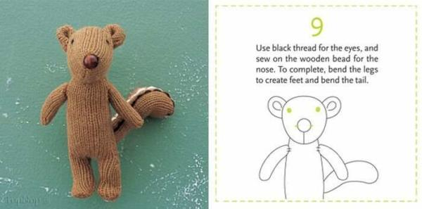 image, آموزش تصویری ساخت عروسک خرس با دستکش کهنه