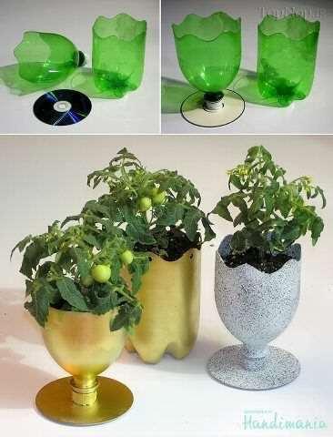 image, آموزش تصویری ساخت گلدان تزیینی با بطری و سیدی