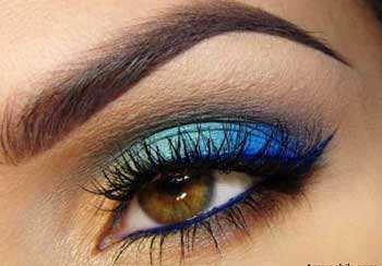 image آموزش آرایش مخصوص چشم های قهوه ای