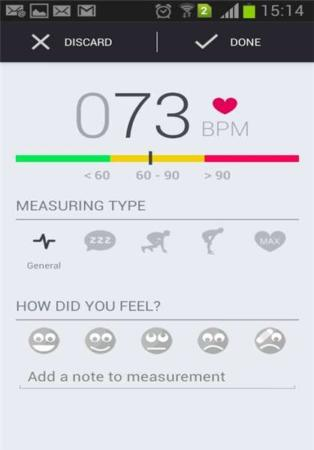 image, اندازه گیری ضربان قلب با موبایل