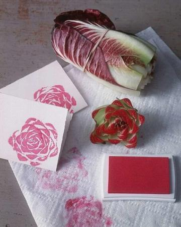 image, آموزش ساخت استامپ گل با برگ کاهو