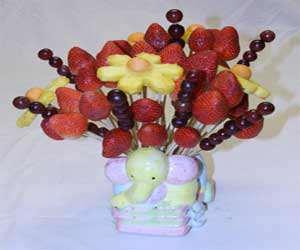 عکس, ساخت سبد گل میوه برای عصرانه تابستانی