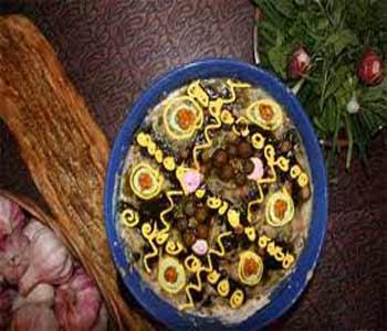 image تزیین های زیبای آش رشته با کشک برای افطار